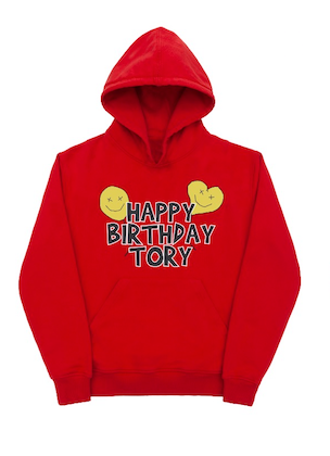 Happy Birthday Tory Red Hooded Sweatshirt