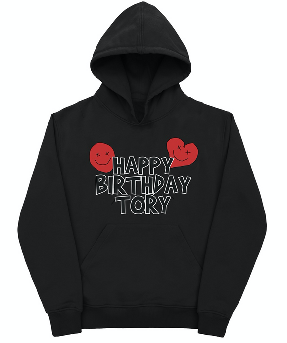 Happy Birthday Tory Black Hooded Sweatshirt