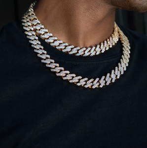 MICRO PAVED RAPPER CHOKER CHAIN