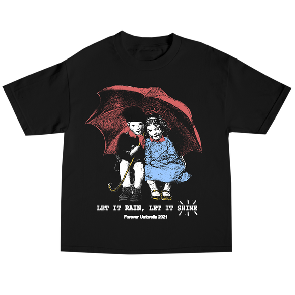Umbrella Kids Tee- Black