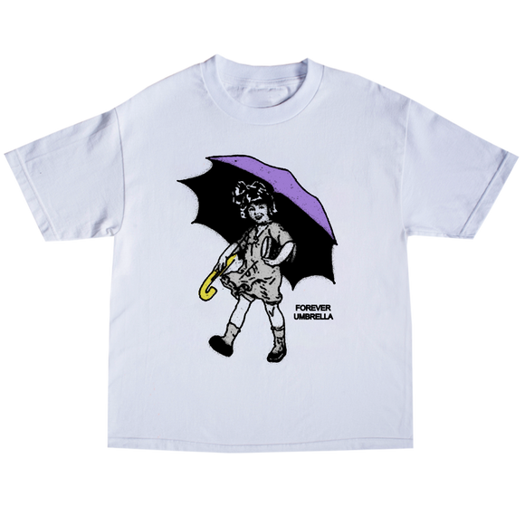 Umbrella Girl Tee- White