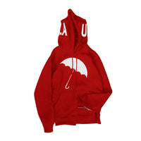 UMBRELLA CHENILLE EMBROIDERED HOODIE (RED)
