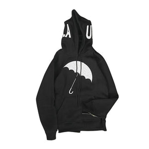 UMBRELLA CHENILLE EMBROIDERED HOODIE (BLK)