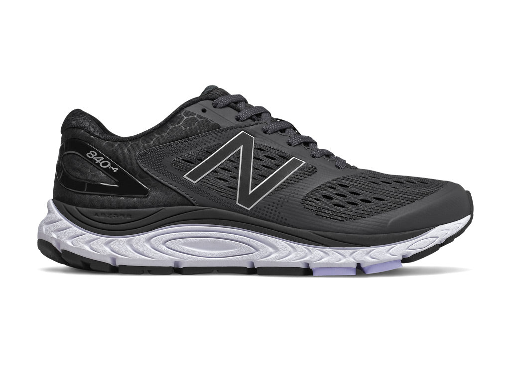 New Balance 840 v4 (W) - Black with White