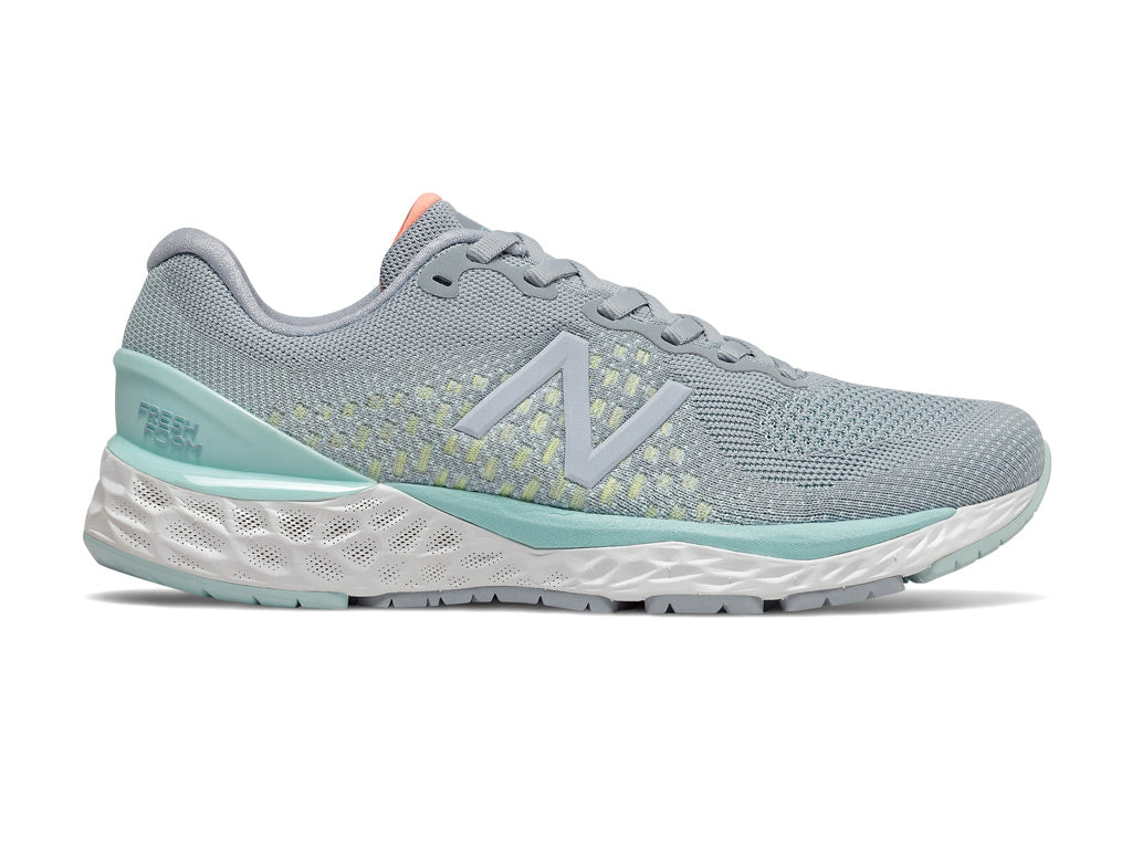 New Balance Fresh Foam 880 v10 (W) - Light Slate with Bali Blue