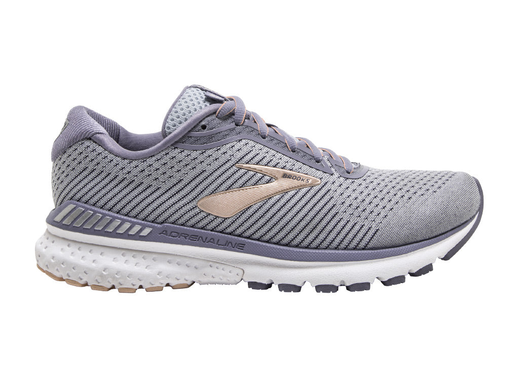 Brooks Adrenaline GTS 20 (W) - Grey/Pale Peach/White