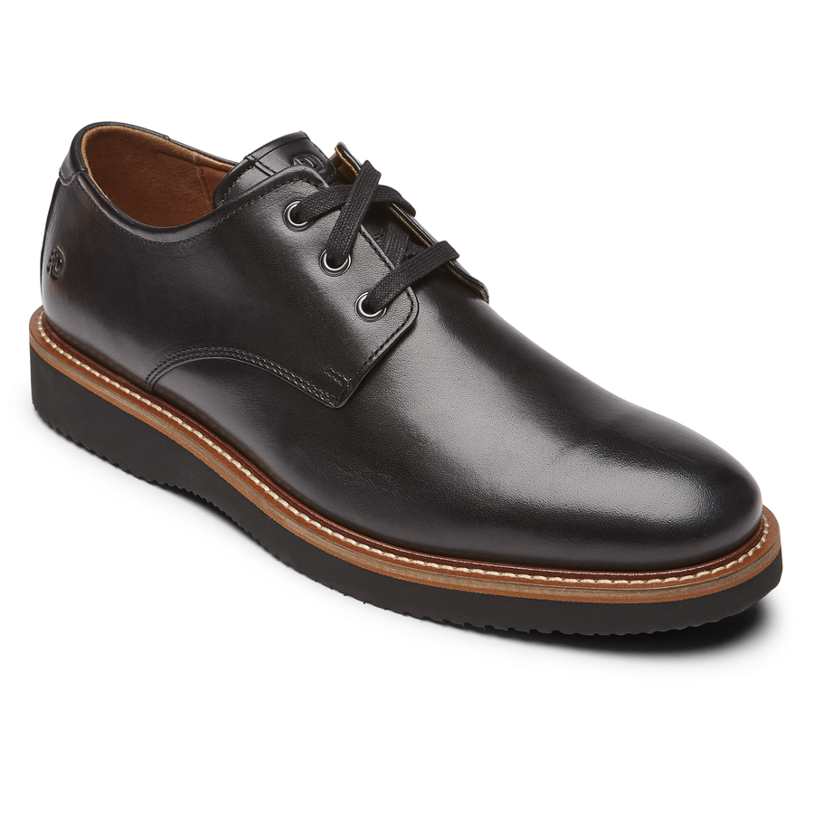Dunham Clyde Plain Toe Oxford - Black