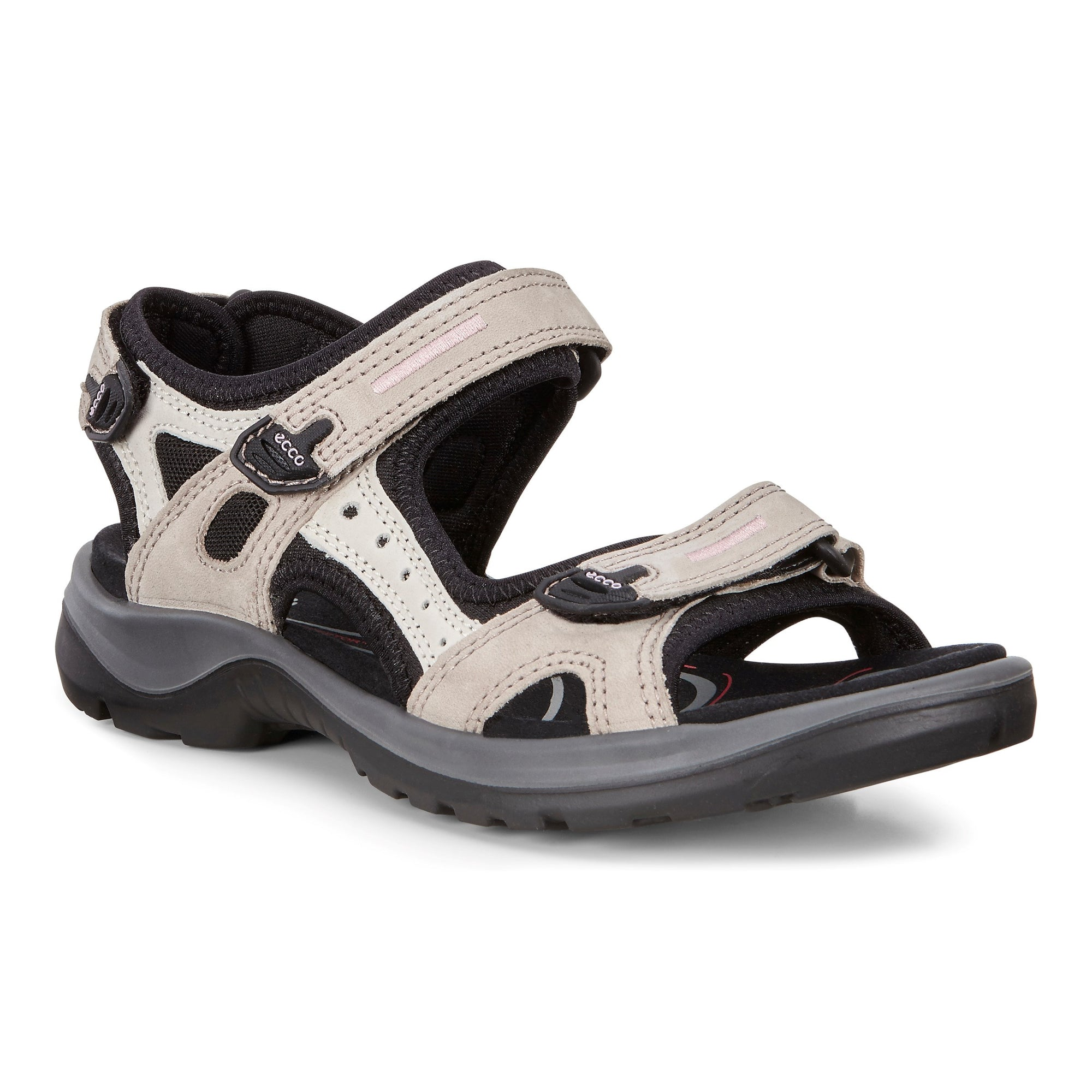 Ecco Yucatan Sandal (W) - Atmosphere/Ice/Black