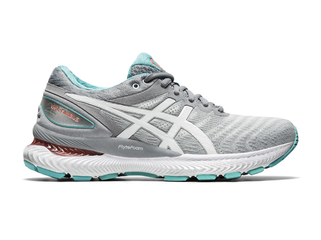 Asics Gel-Nimbus 22 (W) - Sheet Rock/White