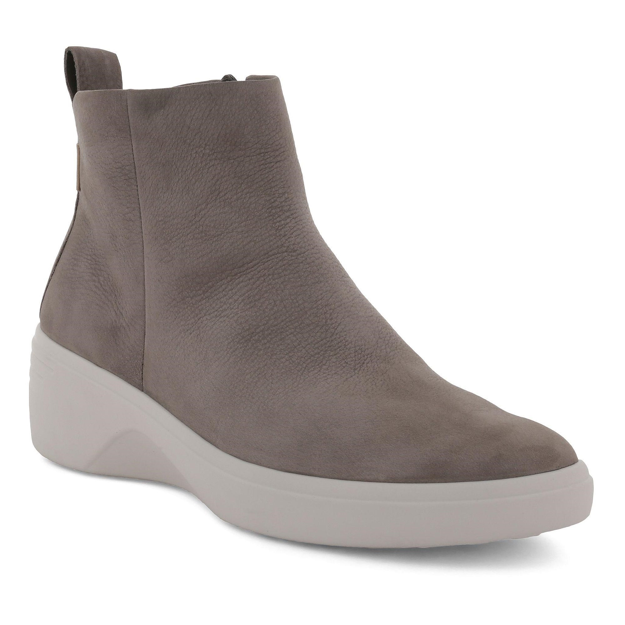 Ecco Soft 7 Wedge (W) - Warm Grey