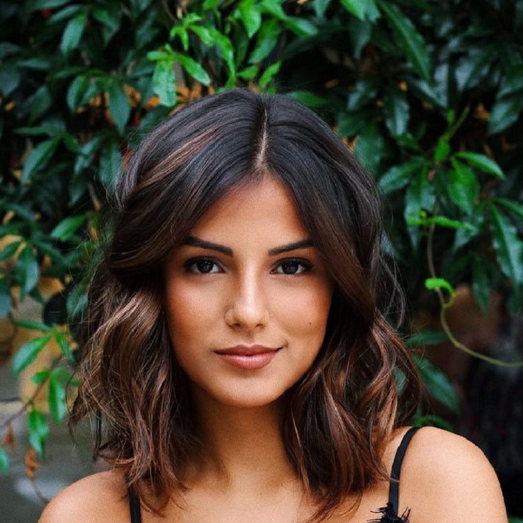 medium length hairstyles brunette woman maintain healthy hair