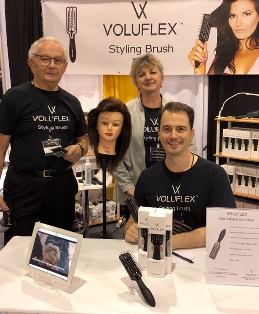 Voluflex founder kevin with hair stylist parents - our story