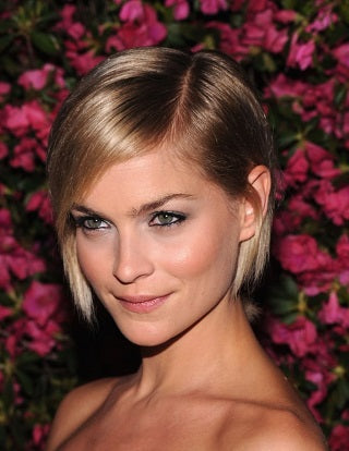 best short hairstyles Leigh Lezark sleek crop hair