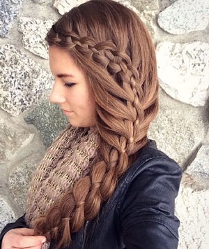 long hair style ideas cascading waterfall braids