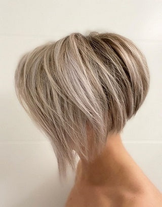 long pixie cut bob hybrid swept front bangs
