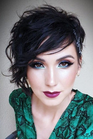 short hairstyles for thin hair edgy pixie cut voluflex