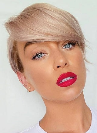 short hairstyles for thin hair Shaved Shaggy Bob voluflex