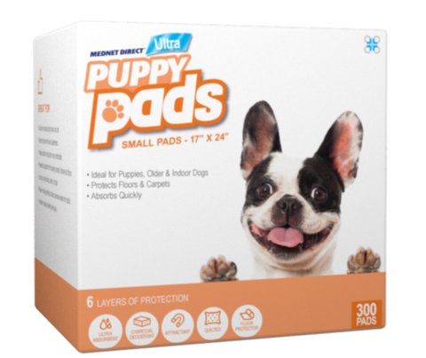 17 x 24 Small ULTRA 6 Layer Doggy Training Puppy Pads With Deodorant and Attractant  - 300 Count
