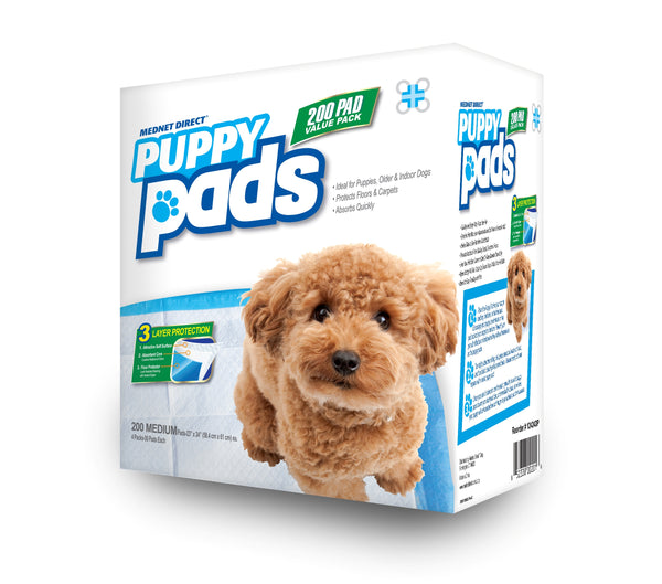 23 x 24 Medium 3-Layer Value Doggy Training Puppy Pads- 200 Count