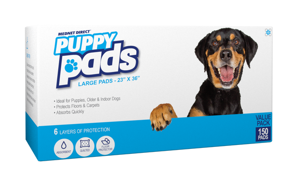 23 x 36 Large 6-Layer Premium Plus Doggy Training Puppy Pads with Deodorant and Attractant - 150 Count