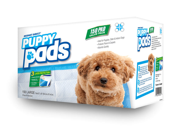 23 x 36 Large 3-Layer Value Doggy Training Puppy Pads - 50 Count