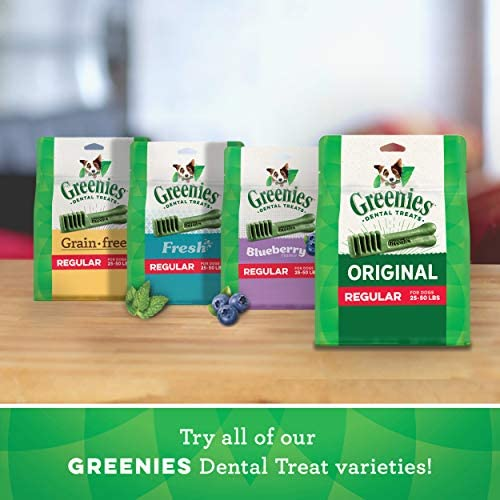 Greenies Original Regular Natural Dental Dog Treats (25 - 50lb. dogs)