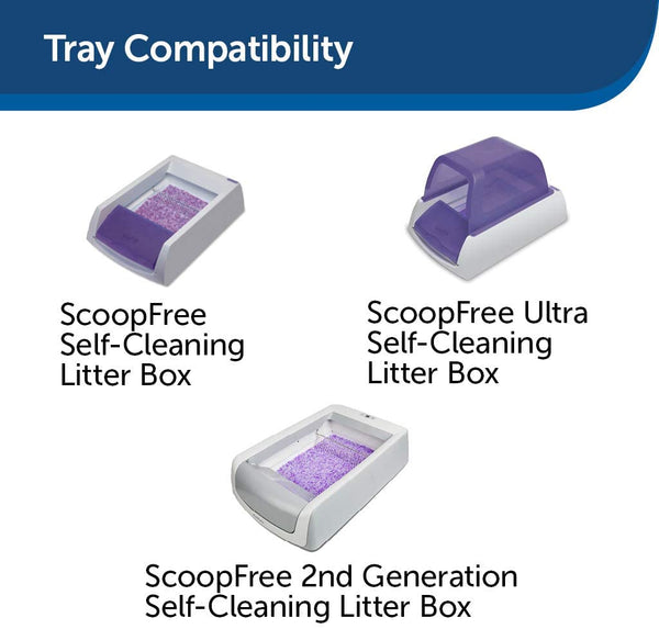 PetSafe ScoopFree Self-Cleaning Cat Litter Box Tray Refills - Non-Clumping Crystal Cat Litter - 3-Pack