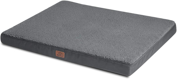 Bedsure Medium Dog Bed for Small, Medium Dogs/Cats Up to 50lbs - Orthopedic Egg-Crate Foam with Removable Washable Cover - Water-Resistant Pet Mat for Crate,Grey