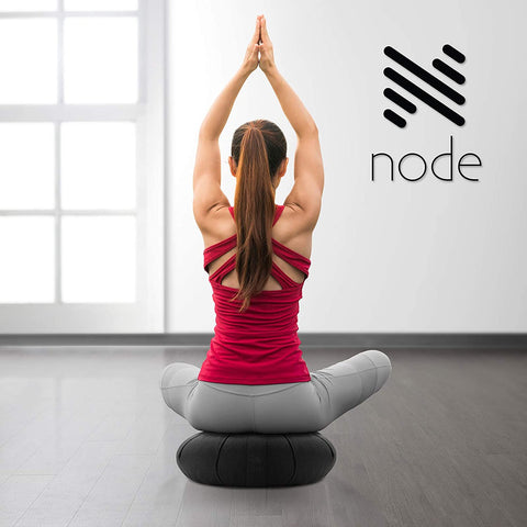 "Node Fitness Organic Cotton 15"" Round Meditation Cushion Brand: Node Fitness, Black"