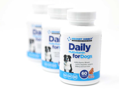 Daily Multivitamin For Dogs 60 Count, Bacon Flavored Tablets