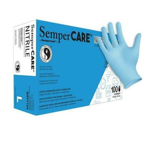 SemperCare® Nitrile Exam Grade • Powder-Free • Fully Textured gloves LARGE
