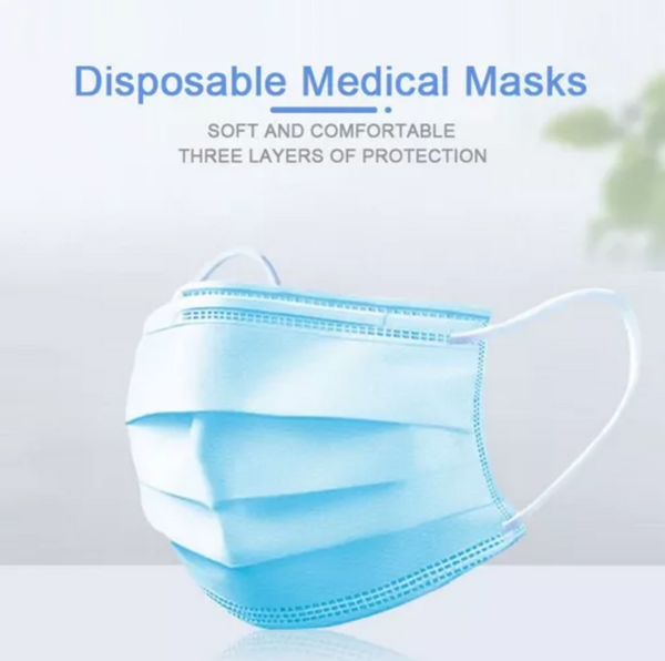 Bulk 2,500 Count 3-Ply Surgical Mask