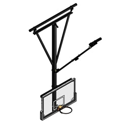 Ceiling Mounted Basketball Backstop P
