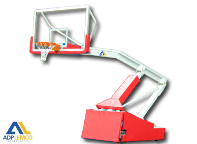 ADP Pro S Spring-Lift Portable Basketball Backstop with Wheel Lift P