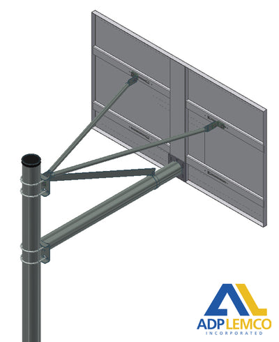ADP Heavy Duty Playground O.D. Adjustable Straight Post P