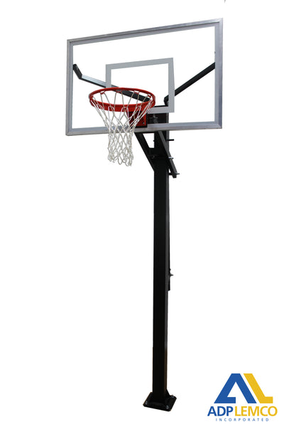 ADP Varsity Jam Adjustable Basketball Hoop with Glass Board