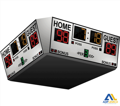 ADP Alphatec™ Arena Four-Sided Basketball Scoreboard P