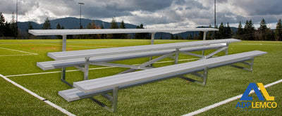 ADP Spectator Stationary Low Rise Bleacher, 3 Row P