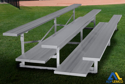 ADP Spectator Stationary 21' Bleacher, Double Foot Plank P