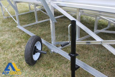 ADP Spectator Transportable Bleacher, 5 Row, Double Foot Plan P