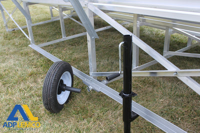 ADP Spectator Transportable Bleacher with Aisle, 5 Row
