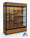 ADP Elite Freestanding Display Case + Cornice and Light