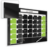 Black Magnetic Glass Dry Erase Monthly Calendar P