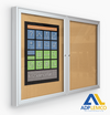 ADP Indoor Enclosed Bulletin Board Cabinet