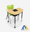 ADP Shapes Desk Configurable Student Desk - Hard Plastic Top P