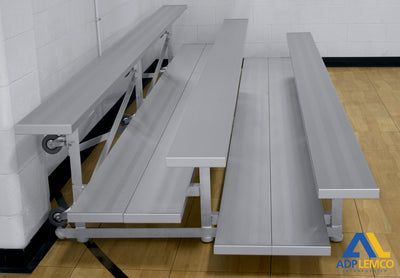 Spectator Tip n' Roll Bleacher, 2 Row Double Foot Plank