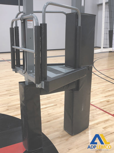 ADP One-Court Volleyball System and Padded Referee Stand P
