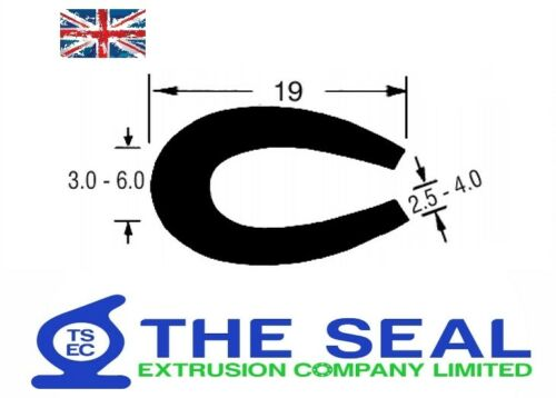 TSEC1638 Rubber U Channel - EPDM - The Seal Extrusion Company LTD