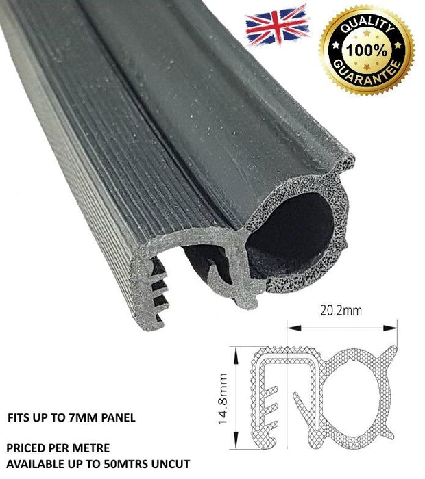 TSEC2218 MF Massey Ferguson Window rubber Profile Glass pane seal - The Seal Extrusion Company LTD