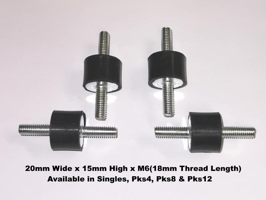 Anti Vibration Mounts - Male Male Thread - 20mm x 15mm x M6 - The Seal Extrusion Company LTD